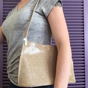 Stuart Weitzman Leather Snake Shoulder Bag Purse